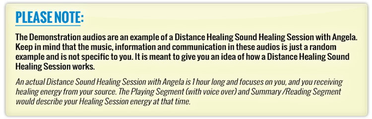 Distance Healing Sound Healing Sessions